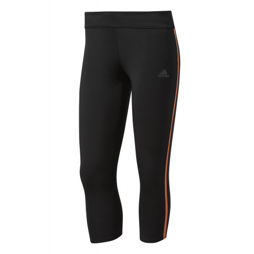 Collant Adidas Tight Response 3/4 Noir/Easy Orange