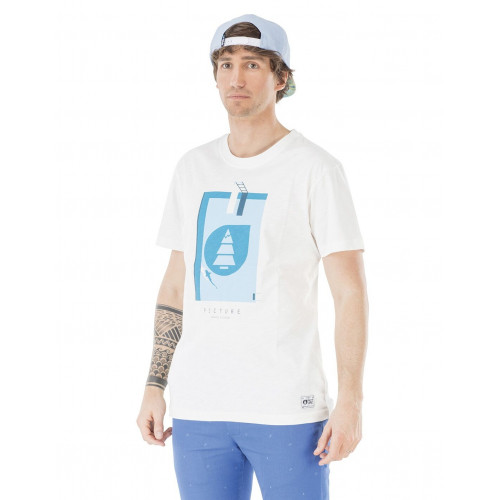 Tee-shirt Picture Organic Pool White
