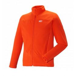 Polaire Millet Vector Grid Jacket Bright Orange