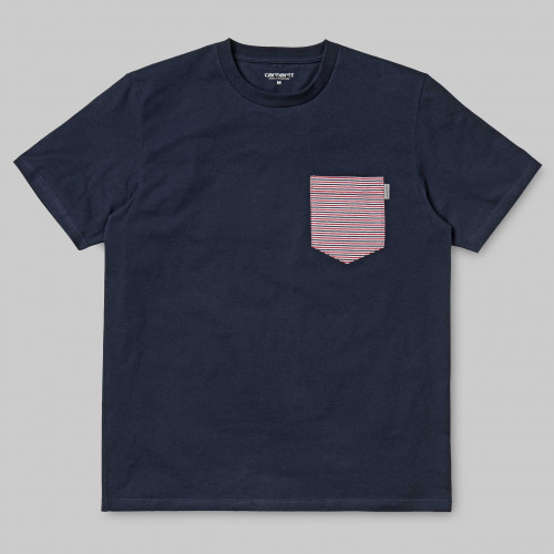T-shirt Carhartt Contrast Pocket Navy Gordon Chili