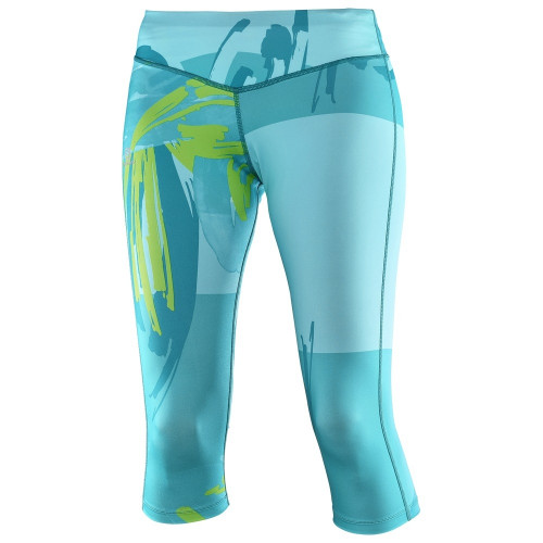 Collant Salomon Elevate 3/4 Tight Blue Bird