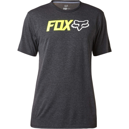 T-shirt Fox Obsessed Ss Tech Heather Black