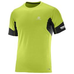 Tee-shirt Salomon Agile SS Tee Lime Green Black