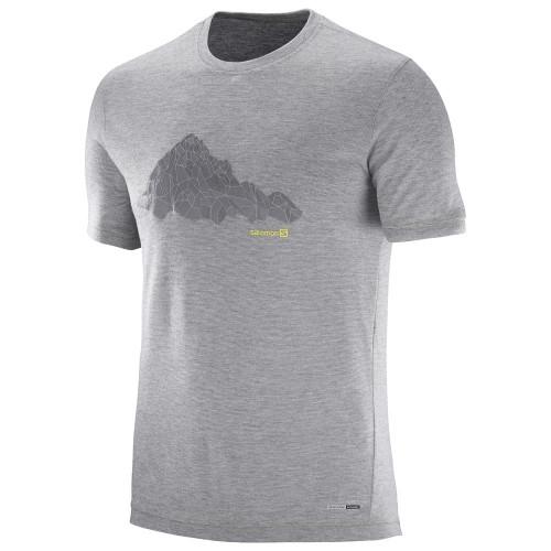Tee-shirt Salomon Explore Graphic SS Light Grey