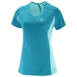 Tee-shirt Salomon Agile SS Tee Enamel Blue