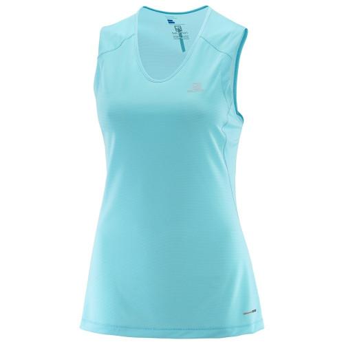 Tee-shirt Trail Runner Sleeveless Blue Bird