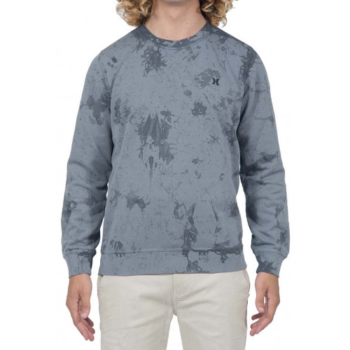 Sweat Hurley Beach Club Raw Crew Cool Grey