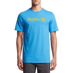 T-shirt Hurley One&only Push Trough Light Blue Hea