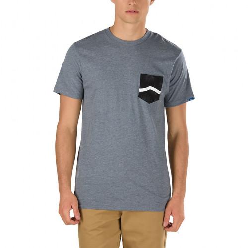 Tee-shirt Vans Side Stripe Pocket Heather Grey To