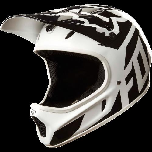 Casque de VTT Fox Rampage Race Helmet White Black
