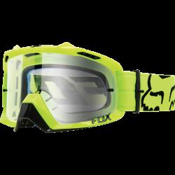 Masque de VTT Fox Air Defense Race Yellow / Clear