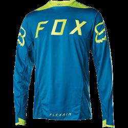 Maillot de VTT Fox Flexair Ls Moth Jersey Teal