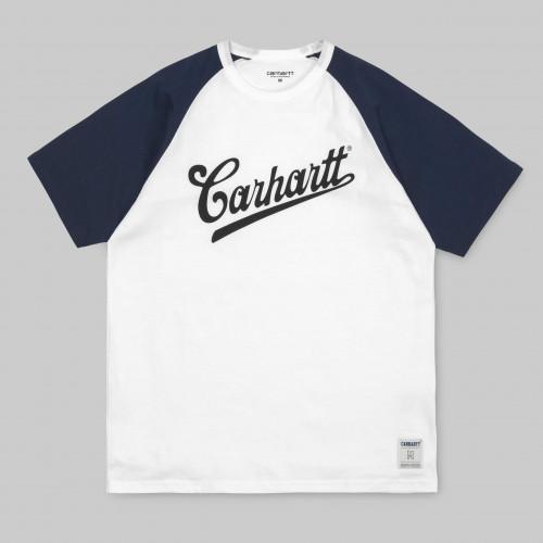 Tee-shirt Carhartt Strike White Blue