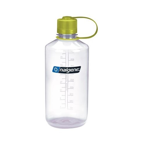 Gourde Nalgene 1L Narrow Mouth Clear Tritan/Green