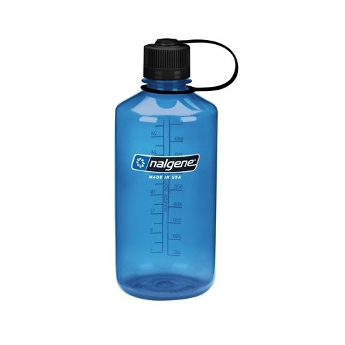 Gourde Nalgene 1L Narrow Mouth Tritan Blue / Black