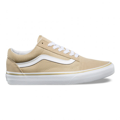 chaussures vans old skool pale khaki true white. Black Bedroom Furniture Sets. Home Design Ideas