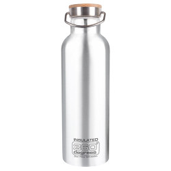 Gourde Thermos 360 Degrees Vacuum 750ml Silver