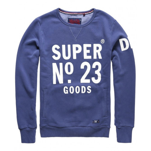 Sweat Superdry Heritage Beach Crew Blue Indigo