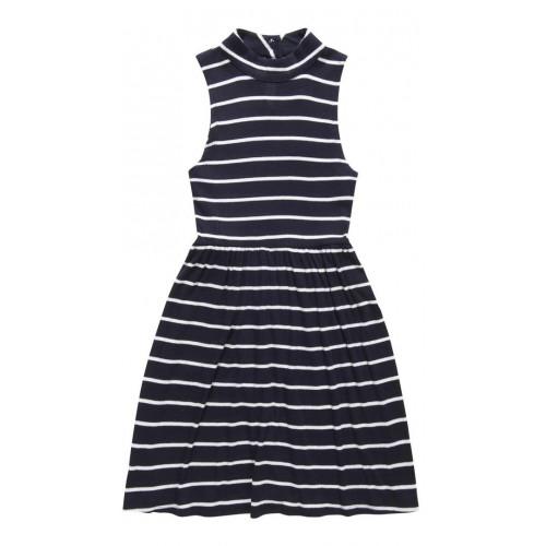 Robe Superdry Shoreline Knit Rib Dress Navy/White