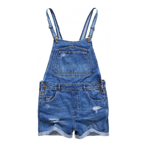 Salopette Superdry Naomi Short Dungaree Mid Wash
