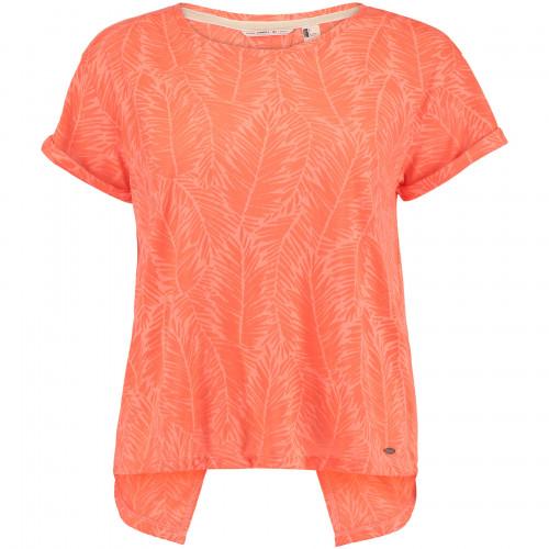 T-shirt O'Neill Crop Split Back Fluoro Peach