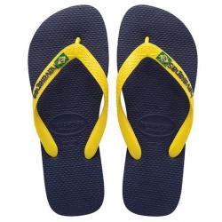 Tong Havaianas Hav Brasil Logo Navy/Citrus Yellow