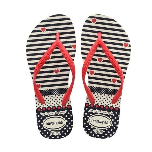 Tong Havaianas Hav Kids Slim Fashion White/red