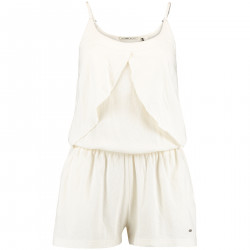 Combishort O'neill Ruffle Jersey Playsuit White