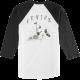 T-shirt Etnies Broken Bones Raglan Black/White