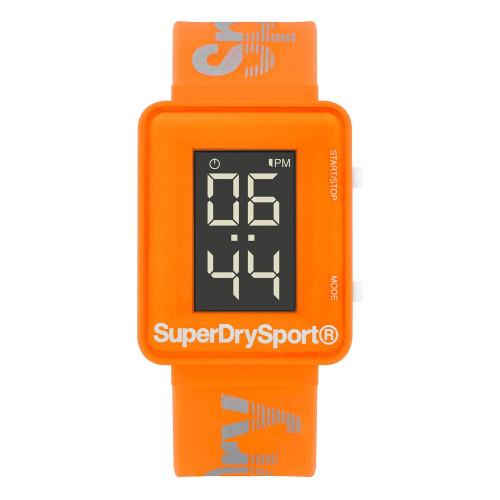 Montre Superdry Lcd Gym Sprint Orange