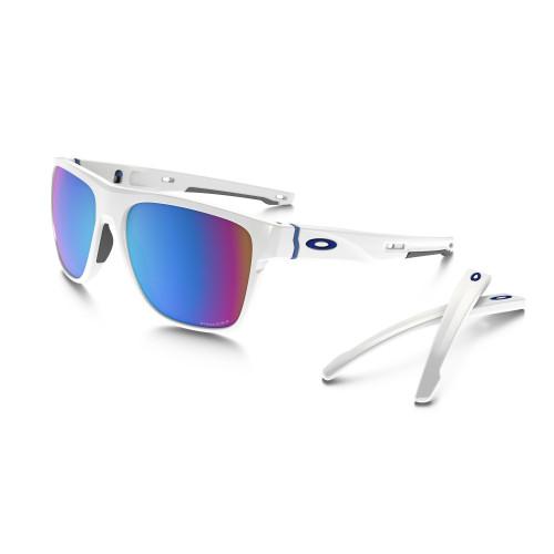 oakley white glasses b0io  Lunettes Oakley Crossrange Xl Polished White Prizm Sapphire