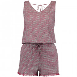 Combishort O'Neill Strappy Playsuit Pink / Green