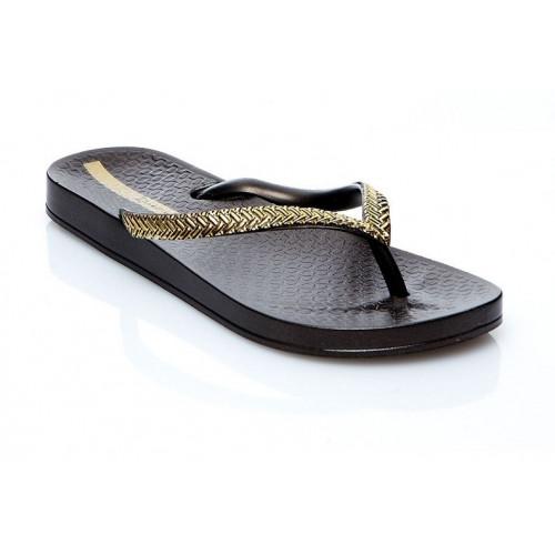 Tongs Ipanema Mesh Black / Gold