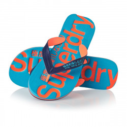Tongs Superdry Flip Flop French Navy Hazrd Orng
