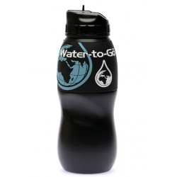 Gourde Water-To-Go Water Filter Black 750 mL