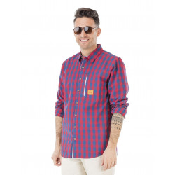Chemise Picture Organic Harrison Blue Red