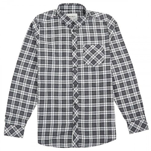 Chemise Carhartt L/s Shawn Shirt Check Snow