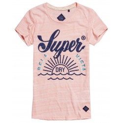 T-shirt Superdry Tri Colour Tropical Sunset Coral