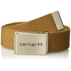 Ceinture Carhartt Clip Belt Chrome Hamilton Brown