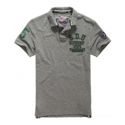 Polo Superdry Super State Pique Grey Marl Green