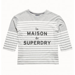 T-shirt Superdry Nordic Breton Tee Dark Ice Marl/W