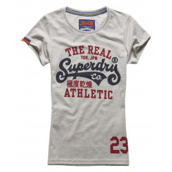 T-shirt Superdry Real Tokyo Tee Frost Grey Marl