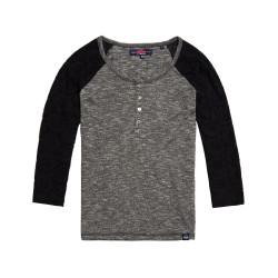 T-shirt Superdry Slub Twist Jersey Lace Grandad Ch