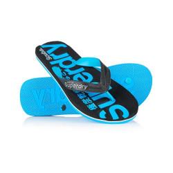 Tongs Superdry Scuba Flip Flop Black / Fluro Blue