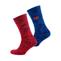 Chaussettes Superdry Big Dry Hiker Sock Red / Navy