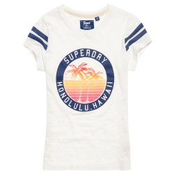 T-shirt Superdry Beach Surplus Jungle Cream Slub