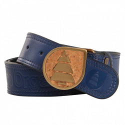 Ceinture Picture Organic Leather Belt Cork Blue