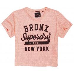 T-shirt Court Superdry Houston Burnout Fluro Pink