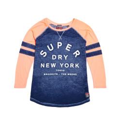 T-shirt Superdry Brooklyn Baseball 90's Coral Navy