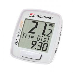 Compteur Vélo Sigma Bc 8.12 Ats Sans Fil Blanc